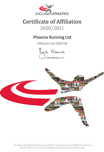 Phoenix Running Ltd - EA Affiliate Certificate